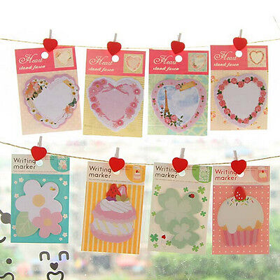 Lots Style Cartoon Pattern Sticky Notes Bookmark Memo Index Flag Pads Stationery