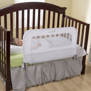 Solid Wood Toddler Bed w/ Waterproof Mattress & Bed Rails
