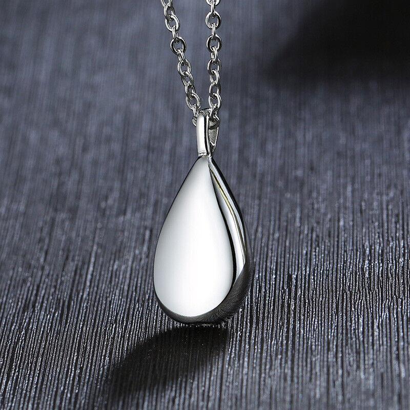 Teardrop Ashes Urn Pendant Women's Necklace Cremation Memori