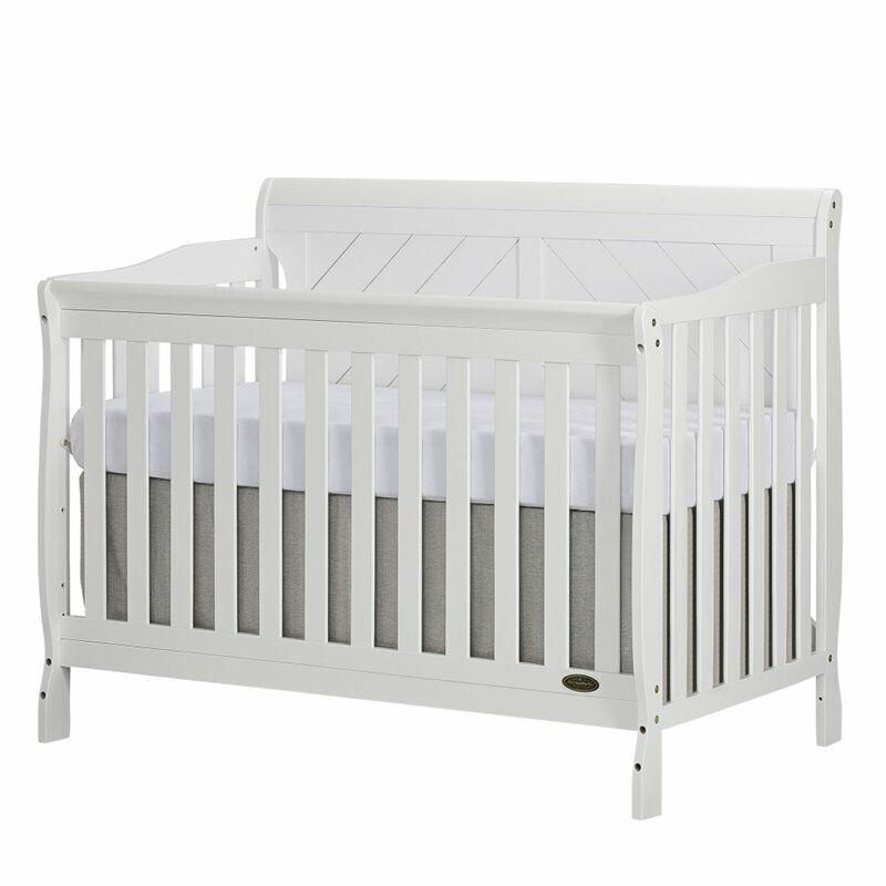 Dream On Me Ashton Full Panel Convertible 5 in 1 Crib in White