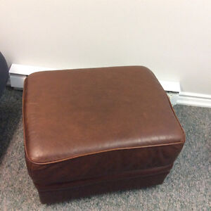 leather couch ottoman excellent condition