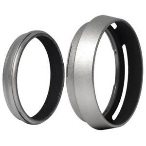 Filter Adapter Ring+Aluminum metal Lens Hood for Fujifilm Fuji FinePix X100 F5N7