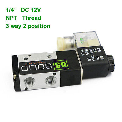 U.s.solid 14 Npt 3 Way 2 Position Pneumatic Electric Solenoid Valve Dc 12 V