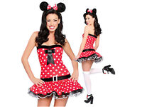 LADIES WOMENS INTIMATES SEXY PLAYFUL MOUSE OUTFIT FANCY DRESS COSTUME MINNIE