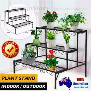 Vintage Indoor Outdoor Metal Home Garden Pots Stand Shelves Rack Campbelltown Campbelltown Area Preview