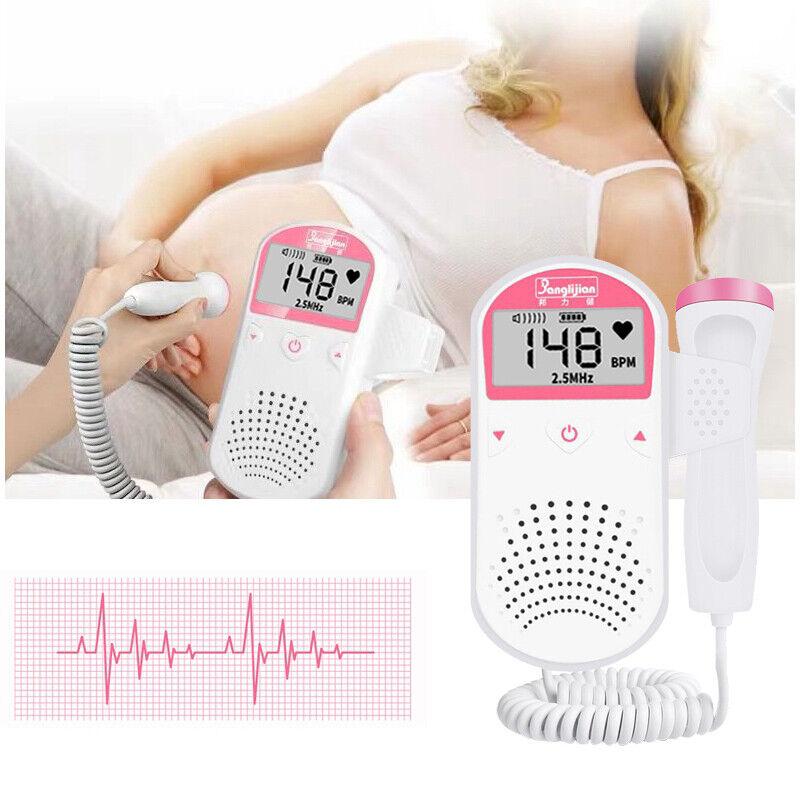 Ultrasonic Fetal Doppler Detector Heartbeat Monitor With Probe 2.5MHz CE & FDA