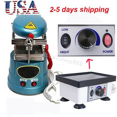 Us Dental Vacuum Forming Former Molding Heat Lab Equipment Vibrator Oscillator