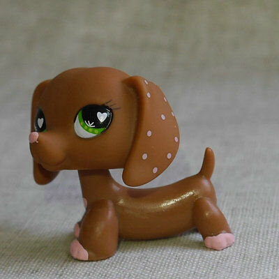 Love Valentine Dachshund dog  LPS mini Action Figure toy Littlest pet shop #556