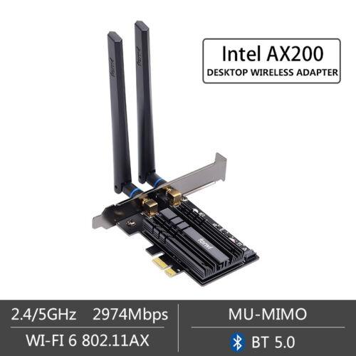 Wi-Fi 6 For Intel AX200 AX200NGW wifi card PCIE Wireless Ada