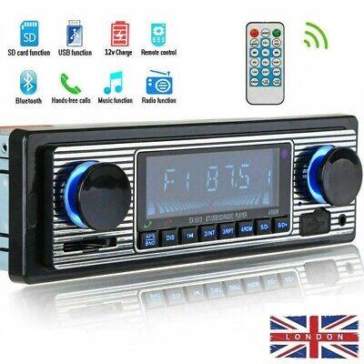 Bluetooth Retro Car Radio MP3 Player Stereo USB AUX-In FM Car Stereo Audio Set