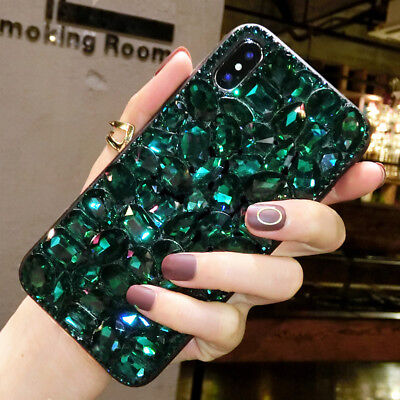 (Jewelled Rhinestone Bling Crystal Diamond Case Cover TPU+PC Skin For Cell Phone)