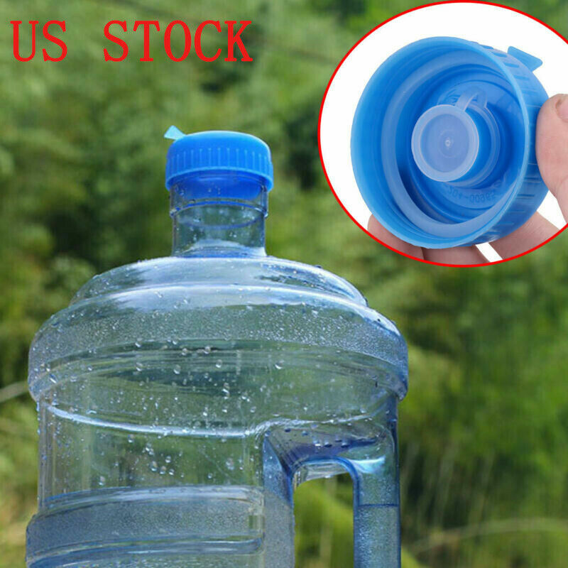 5Pcs 55mm Blue Gallon Water Bottle Jug Sealing Screw Cap Cov