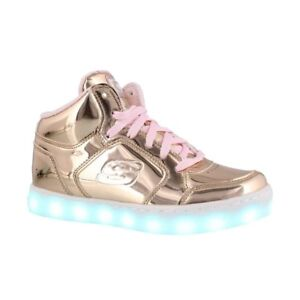 Sketchers light up running shoes...Funky Metalic Pink
