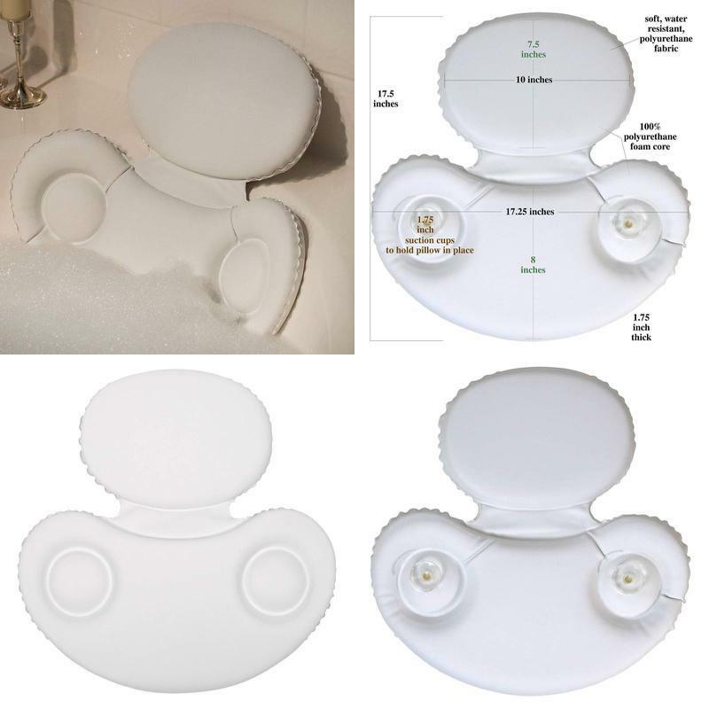 Deluxe Spa Bath Pillow Headrest For Bathtub Hot Tub Jacuzzi