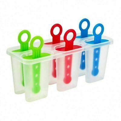 6 Freezer Ice Pop Lolly Maker Tray Cream Popsicle Yogurt Mold Maker Mould Kulfii