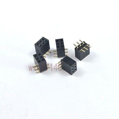 20pcs 0.12.54mm Pitch 2x3 Pin 6 Pin Smtsmd Female Double Row Header Strip Diy