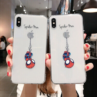 Cool Spiderman Soft Case for iPhone 11 Pro XR 8 7 Shockproof Clear Protect Cover