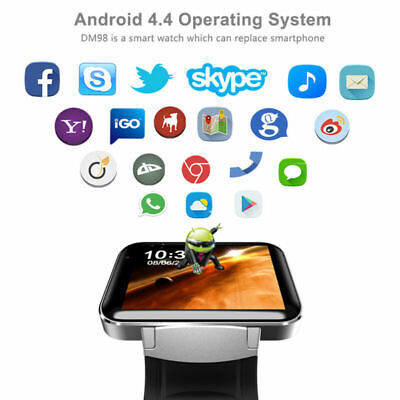 Touch Screen Network - DM98 Bluetooth Smart Watch 3G Network GPS WiFi Camera 2.2inch Large Touch Screen