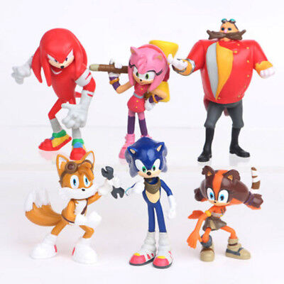 6 Sonic Boom Sonic the Hedgehog Dr Eggman Action Figure set Doll Toy Cake Topper (Sonic Cake)