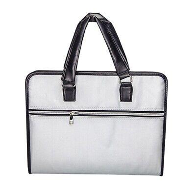 Fireproof File Folder Document Bag Waterproof Pouch Case Safe Zipper Office V2g3