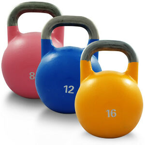 SET-OF-8KG-12KG-16KG-COMPETITION-STEEL-KETTLEBELL-PRO-GRADE-GYM-CROSSFIT-WEIGHTS