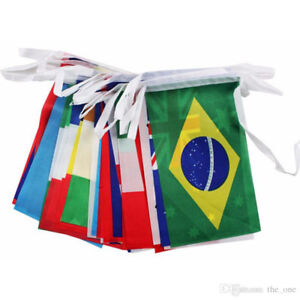 2018 World Cup 32 Team flag String flags Country World Banner