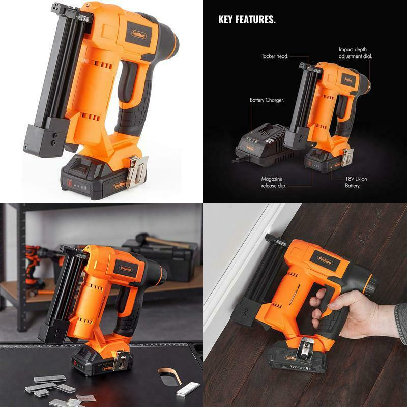 Vonhaus Premium 18V Electric Cordless Nail Gun Brad Nailer B
