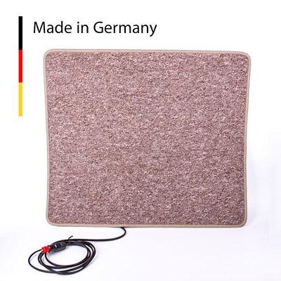 Carbest Heizteppich 12V, 60x70 cm, braun Wärmematte für Wohnwagen und Wohnmobil
