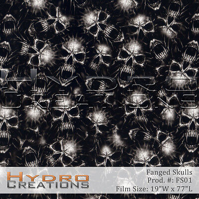 Hydrographic Film For Hydro Dipping Water Transfer Film Fanged Skulls