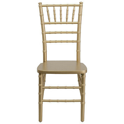 Wood Chiavari Ballroom Chair Stacking Chairs Gold Finish