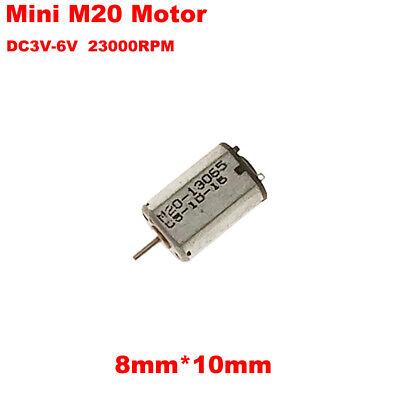 M20 3V~6V 46000Rpm High Speed Micro Mini Dc Motor 10Mm Rc Toy Diy KW