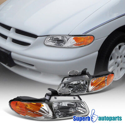 For 1996-2000 Dodge Caravan Chrysler Town & Country Headlights Lamps