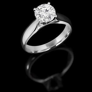Round Diamond Engagement Ring 1.20CT Bague de de fiançailles en diamant