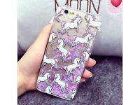 Luxury Hot Cartoon Unicorn Liquid Glitter Hard Case Cover For Apple iPhone6