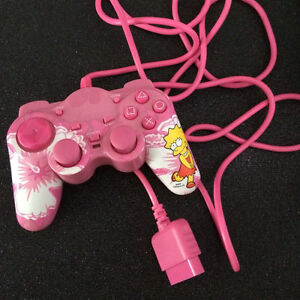 Collectible/Rare Lisa Simpson Pink Mini Game Controller PS2