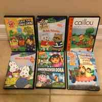 Six different DVDs with kid's TV shows