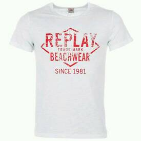 Mens Replay T Shirt Large