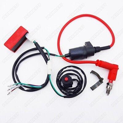 Dirt Pit Bike Wiring Harness Kill Switch Ignition Coil Cdi Set 110 125 140 150Cc