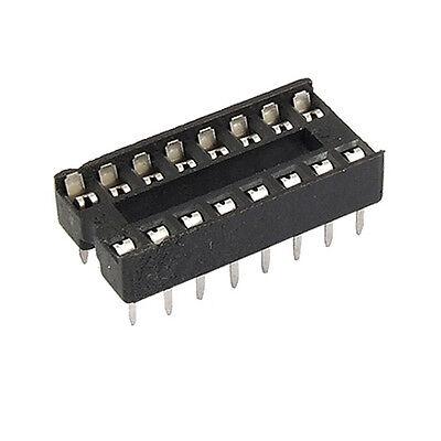 Splendid 30pcs 16-pins Dip Ic Sockets Adaptor Solder Type Socketnew Xg0 Gl