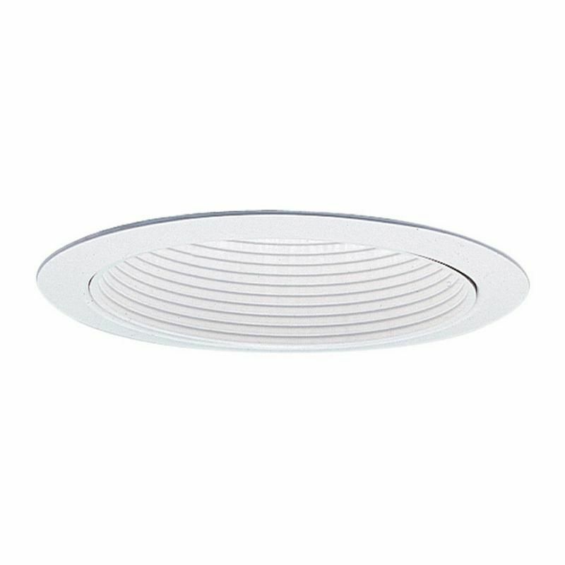 "Lightolier 1076WH 5"" Down Light Basic Reflector Baffle Trim Round Wht Lytecaster"
