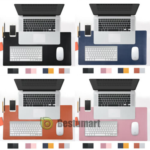 PU Leather Large Mouse Keyboard Pad Computer Gaming Desk Top