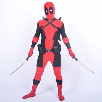 Kids Dead Pool Costumes Cool Full Body Spandex Boy Halloween Cosplay Party New - Kids Cool Costumes