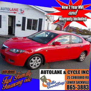 2008 Mazda 3 Sedan Works great Shiny Red NEW MVI Only $3995