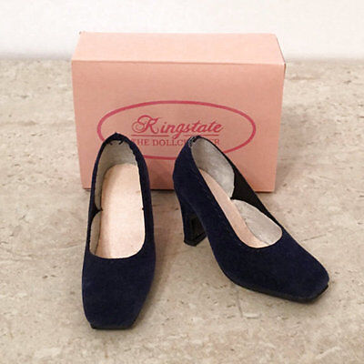 "KINGSTATE NAVY SUEDE PUMPS FOR 18"" KITTY COLLIER BY ROBERT TONNER - NIB"