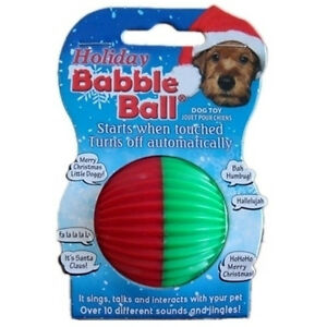 Pet Qwerks Talking BABBLE BALL Dog Cat Bird Puppy Toy