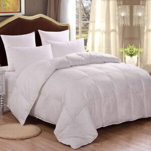 Premium Cotton Comforter, Quilted Alternative Duvet with Corner