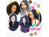 Afro Hair Hairdresser Braids, Interlocs & Crochet Braids