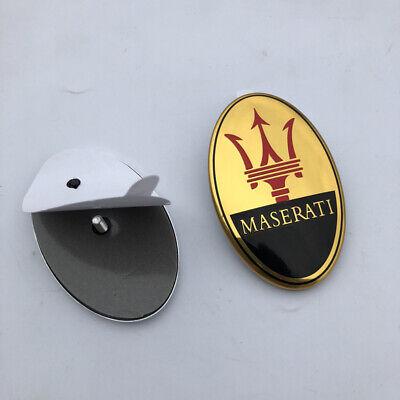 Maserati Quattorporte,GranTurismo,Ghibli,Levante Front Bumper Gold Logo