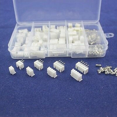 40 2.54 Jst Xh Connector Terminal Kit 2 3 4 5 Pin Male Female Right Angle 90 Deg