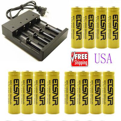 14500 Battery 2800mAh 3.7v rechargeable Li-Ion  multi-funct Smart -
